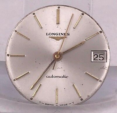 LONGINES vintage 1966 DIAL & MOVEMENT for parts cal 345
