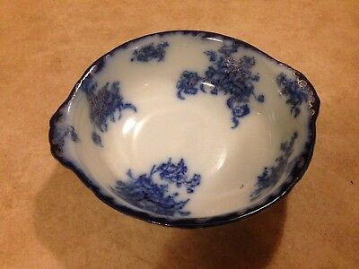 Antique English Grimwades Staffordshire flow blue very large pottery bowl