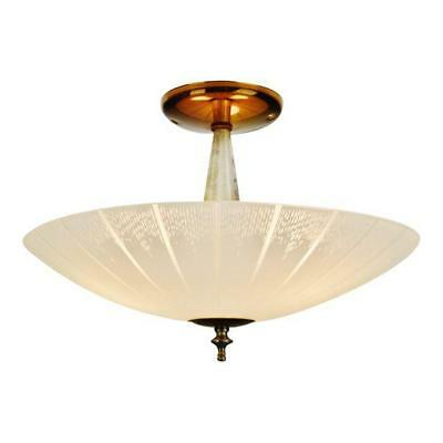 Vintage Virden Lighting Ceiling Light Fixture with Frosted Glass Shade