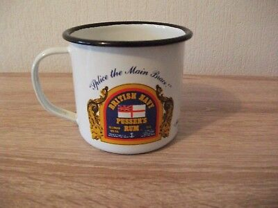 PUSSER´S RUM BRITISH NAVY Emaille Becher 0,35 l , Made in England !