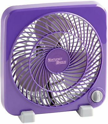 Personal Box Fan 3-Speed Air Cooling Portable Bedroom Home Office 11-Inch Purple
