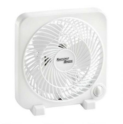 Personal Box Fan 3-Speed Air Cooling Portable Bedroom Home Office 11-Inch White