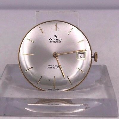 ONSA vintage DIAL & MOVEMENT for parts cal F 4002 NOS