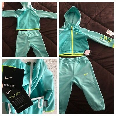 Nike Dryfit 2 Piece Jogger Track Jump Suit Turquoise NWT 12m