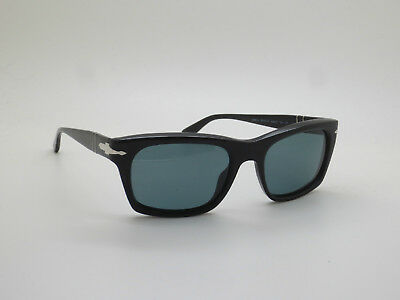 New Authentic PERSOL 3065-S 9014/4N Black Polarized/Photochromic 55mm Sunglasses