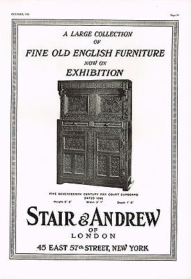 1920s BIG Old VINTAGE Stair Andrew Antique Furniture New York Photo Print AD