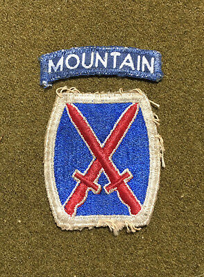WWII WW2 10th Mountain Division patch theater made tab