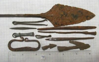 Ancient iron and bronze artifacts Kievan Rus Vikings 11-13 AD № 338/1.