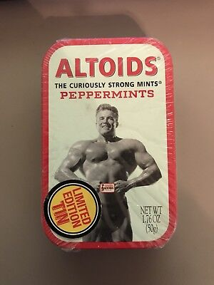 Nice Altoids Body Builder Limited Edition Tin Curiously Strong Peppermints New