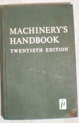 Vintage Machinery's Handbook 20th Student Edition 1978 HB Book Machinists Drafts