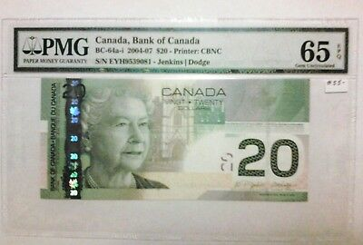Pmg 65 Epq 2004 - 07, $20 Bank Of Canada Note.