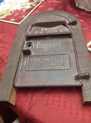 Bates Hawley Us  Mailbox Front Real Cast Iron Antique