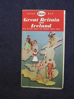 Esso Road Map – Great Britain and Ireland –- 1959