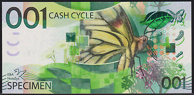 "Test Note KBA GIORI - ""Cash Cycle 001"" intaglio Specimen"
