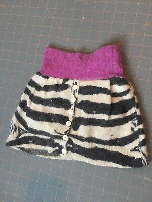 Cloth Diaper Cover Handmade Upcycled Wool Angora Skirtie Soaker baby girl small