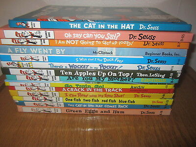 14 Dr Seuss Hardcover Books EUC Oh Say Can you Say CAT IN HAT COMES BACK +