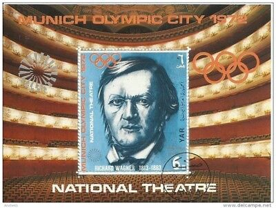 Olympia 1972 München Motiv Richard Wagner National Theater