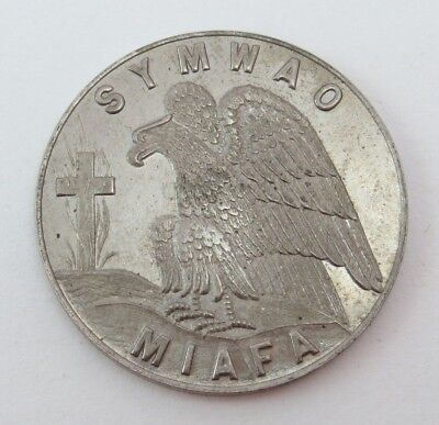 Eagle Burning Cross SYMWAO MIAFA NON SILBA Fraternal Medal / Token