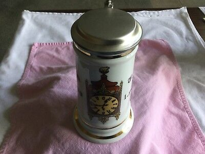 BM & MM Antique German Pewter Lidded Beer Stein Korbely Holysov U FLEKU 1499