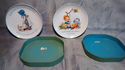Lot of 2 Vintage Holly Hobby LASTING MEMORIES herself the Elf Porcelain plates