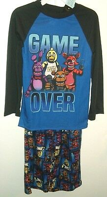 """Five Nights At Freddy's """"Game Over"""" 2-Piece Pajama Set Size 6 or 8 NWT"""