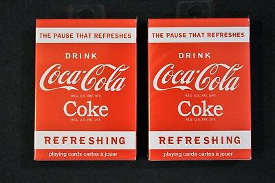 Brand New Bicycle Brand Drink Refreshing Coca Cola Playing Cards (Two Decks)