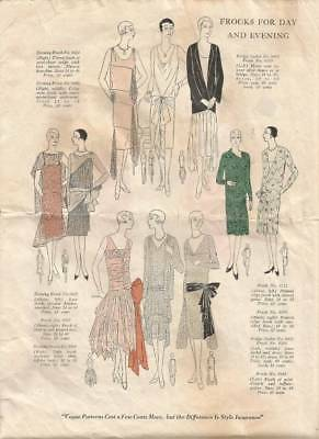 1920's VOGUE FROCKS, BLOUSES, COAT & COSTUME BOOKLET WITH 29 DIFFERENT PATTERN L