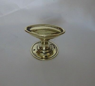 Single Vintage Victorian Brass Oval Shaped Reclaimed Door Knob Handle (OA32)