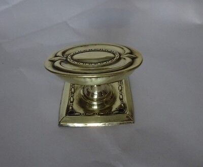 Single Vintage Square Base Brass Oval Shaped Reclaimed Door Knob Handle (OA33)