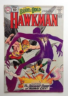Brave and the Bold #36 3rd Silver Age Hawkman 1961 Comic
