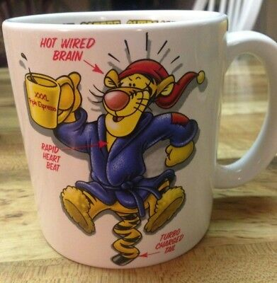 The Disney Store Tigger Caution: Coffee Overload Winnie Pooh Collector's Mug Cup