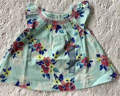 Baby Gap Short Sleeve Smocked Top  100% Cotton  NWT 6-12 Month