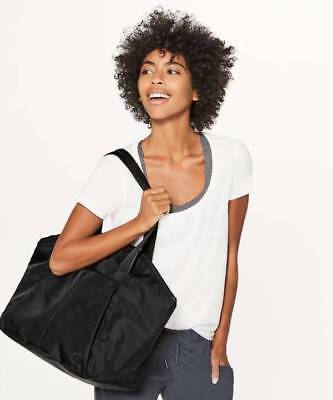 Lululemon Free To Be Bag 20L Retail $128 BLK Black NWT Yoga Workout Black Bag