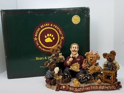 "Boyds Bears Bearstone 1998 ""Work Is Love Made Visible"" # 227803 Limited Edition"