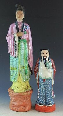 Two Vintage Chinese Porcelain Figures With Marked