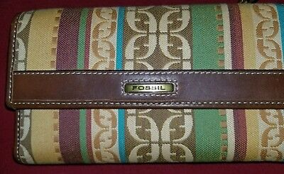 FOSSIL multi color Leather Womens Trifold Wallet