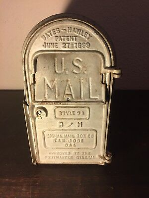 Antique Bates-Hawley Patent 1899 Mail Box Cast Iron Face
