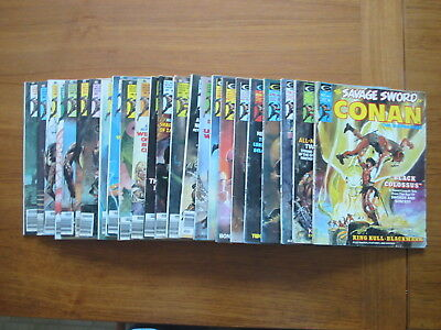 Marvel The Savage Sword Of Conan #2 thru #26 - Volume 1 - Bronze Age - BONUS !