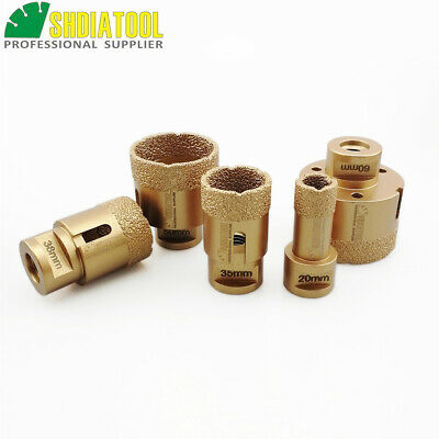5pcs Vacuum Brazed Diamond Drilling Drill Core bits Granite Marble M14 Hole Saw