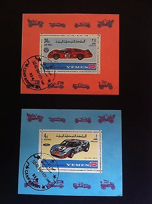 Yemen 1968 Racing Car 2 * mini sheet grand prix/GP/Formula 1/F1 CTO