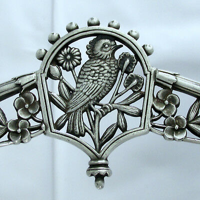 1875 Eastlake Japanese Woodpecker Meriden Silver Plate Co. Pastry Centerpiece