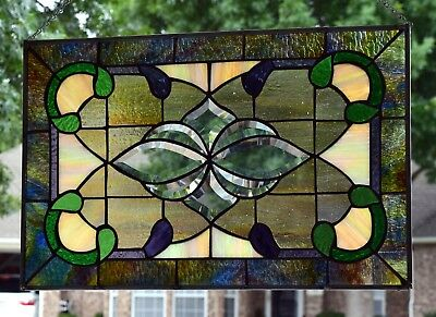Victorian Design Stained Glass Window Panel