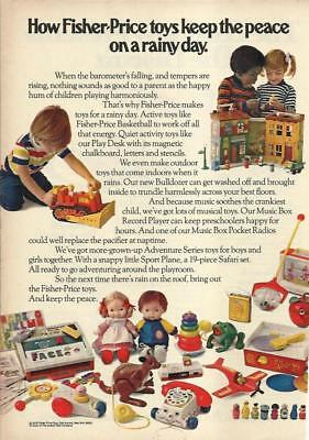 1975 Fisher Price Toy Ad Sesame House My Friend Jenny Phone Pocket Radios + Orig