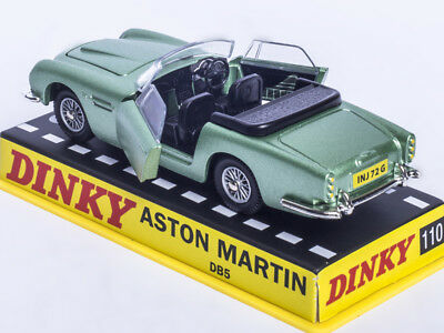 1:43 Dinky toys 110 Aston Martin DB5 Diecast GREEN CAR MODEL RARE COLLECTION NEW