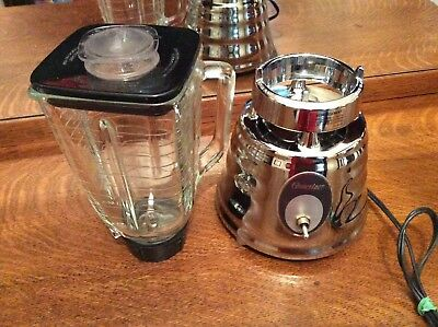 Vintage Style Oster Osterizer Classic Chrome Beehive Blender 2 speed