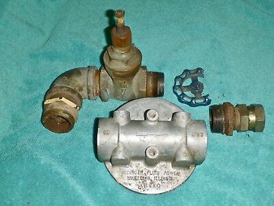 """Michigan"" Spin-On Hydraulic Filter Housing W/Relief 1-1/4"" With Fittings Shown"