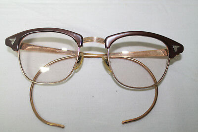 Vintage American Optical Hornrim Eyeglasses Brown 1/10 12k GF Glasses