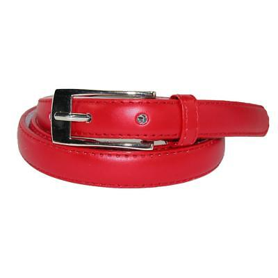New CTM Women's Leather 3/4 Inch Skinny Dress Belt