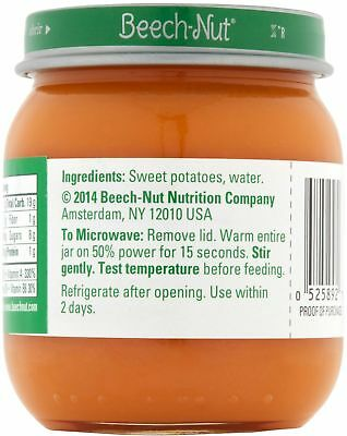Beech-Nut Classics Stage 2 Sweet Potatoes Baby Food, 4 Oz, (Pack Of 10)