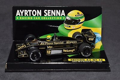 Minichamps Lotus-Renault 98T JPS 1986 Ayrton Senna Collection no. 12 1:43 - read